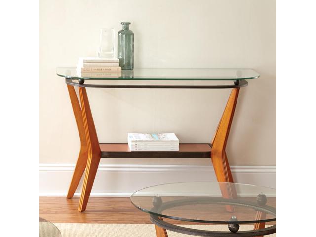 Steve Silver Saxony Glass Top Sofa Table