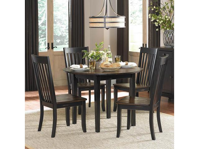 homelegance three falls 5 piece round dining room set w two 8 inch