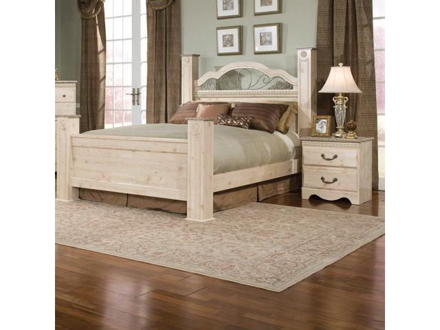 standard furniture seville 2 piece poster bedroom set