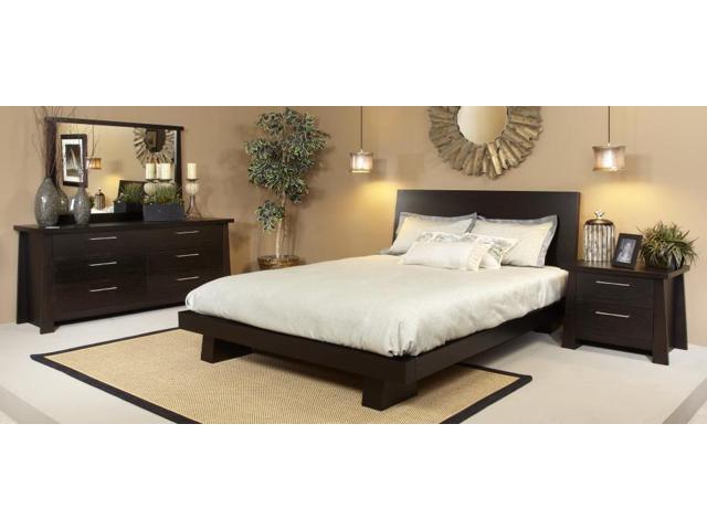 ligna zen collection 4 piece bedroom set in ebony