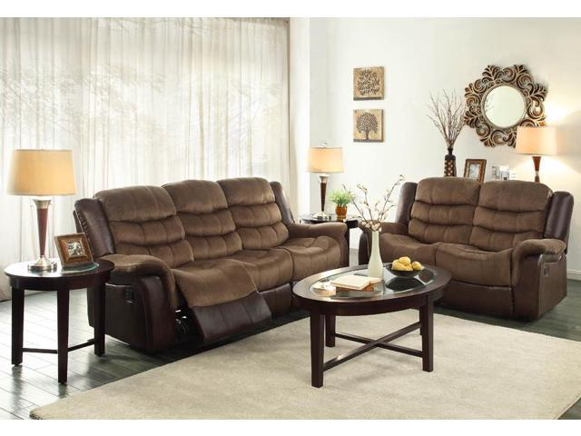 Homelegance bunnell 2 piece living room set in microfiber for 10 piece living room set