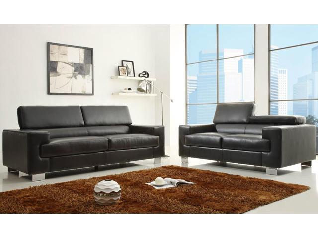 Homelegance vernon 2 piece living room set in black for 10 piece living room set