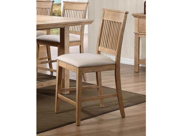 Homelegance Cadance Fabric Counter Height Chair In Neutral Fabric Set Of 2