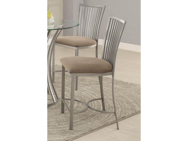 Homelegance Sodus Counter Height Chair With Metal Fabric In Gunpowder Set O