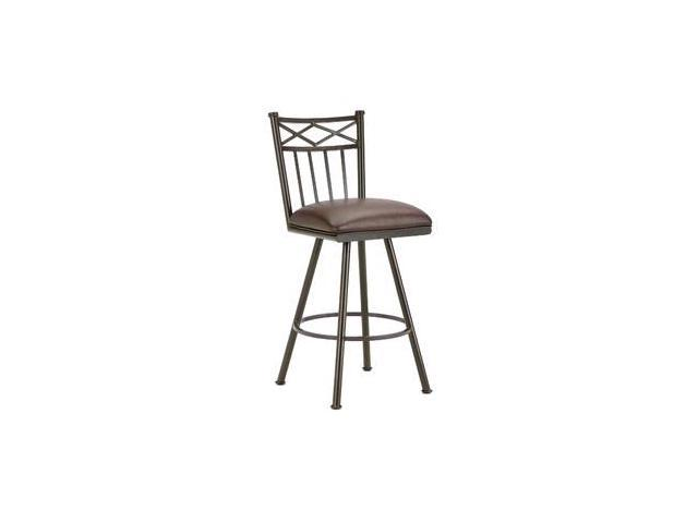 DFI Alexander Swivel Stool In Rust With Ford Brown Fabric Bar Height Newe