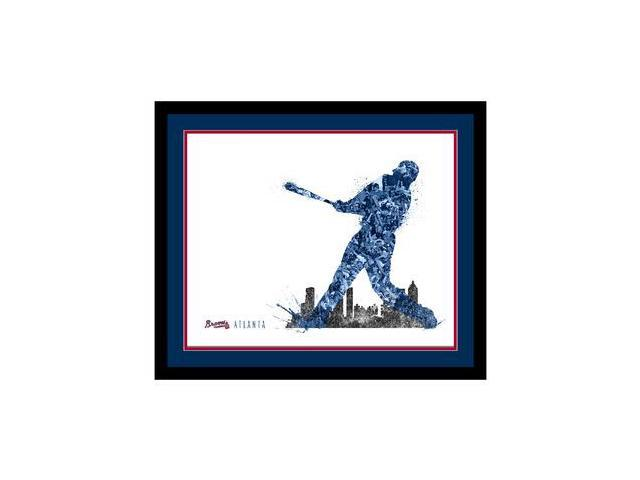 Replay Photos Atlanta Braves Framed Atlanta Braves Silhouette Art - 16 x 19
