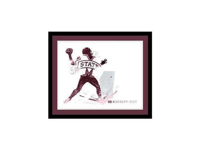 Replay Photos Mississippi State Bulldogs Framed Mississippi State Bulldogs Silho