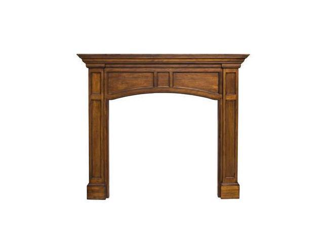 Pearl Mantel Vance Mantel In Medium Oak Distressed Finish - 56 Inches|Without Pl