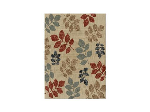 Mayberry Rugs Timeless Leaves of Color Multi - 5 Foot 3 Inch x 7 Foot 3 Inch