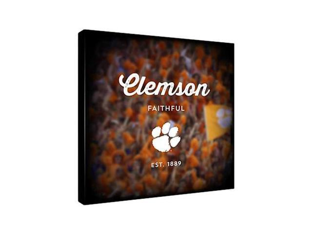 Replay Photos Gallery Wrapped Canvas of Clemson Logo Art