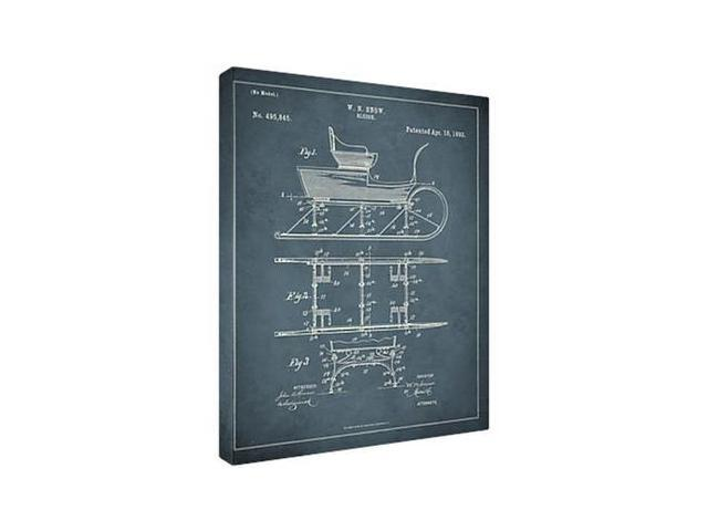 Replay Photos Framed 1893 Sleigh Patent Art
