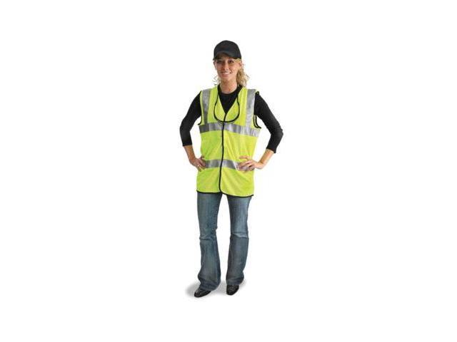 Medium Yellow Lightweight Polyester And Mesh Class 2 Classic Vest