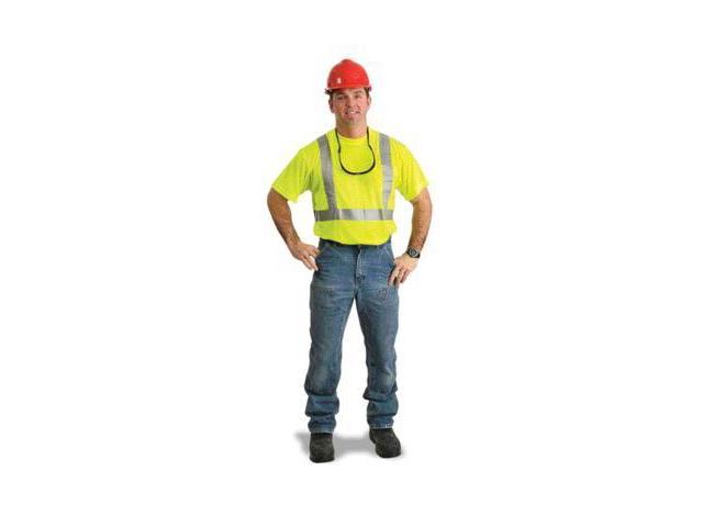 X-Large Yellow Lightweight Moisture Wicking Polyester Class 2 T-Shirt