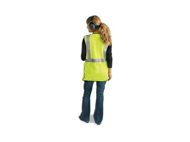 Large Yellow Lightweight Polyester Class 2 Break-Away Vest