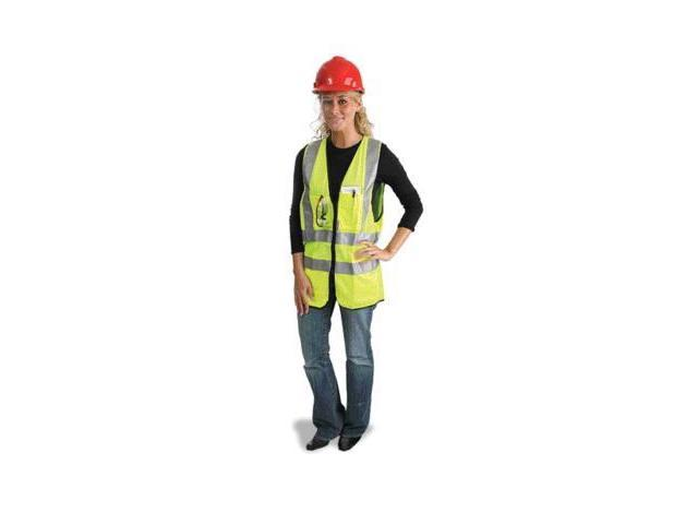 Medium Yellow Lightweight Polyester Class 2 Surveyor'S Vest