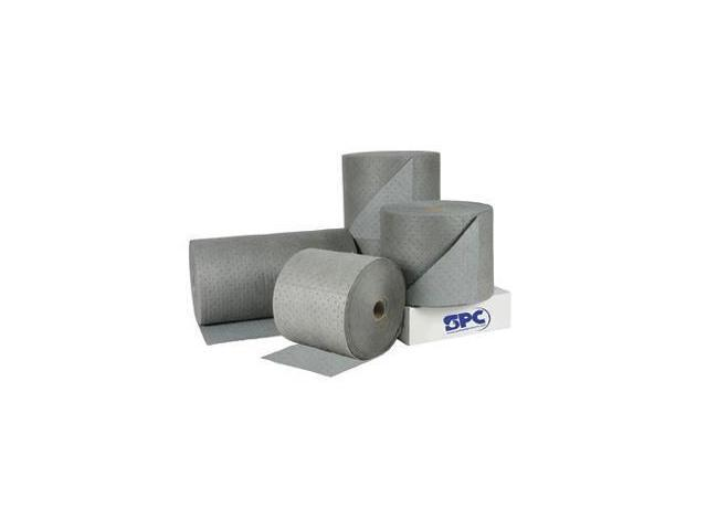 "Brady SPC 30"" X 300' 3-Ply, Gray Dimpled Medium Weight High Traffic Roll, Perforated Every 18"" And Up The Center"