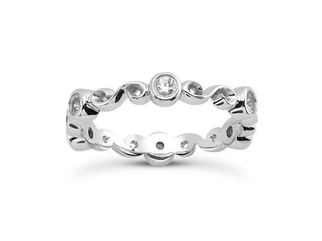 0.30 ct Ladies Round Cut Diamond Eternity Wedding Band Ring in Platinum