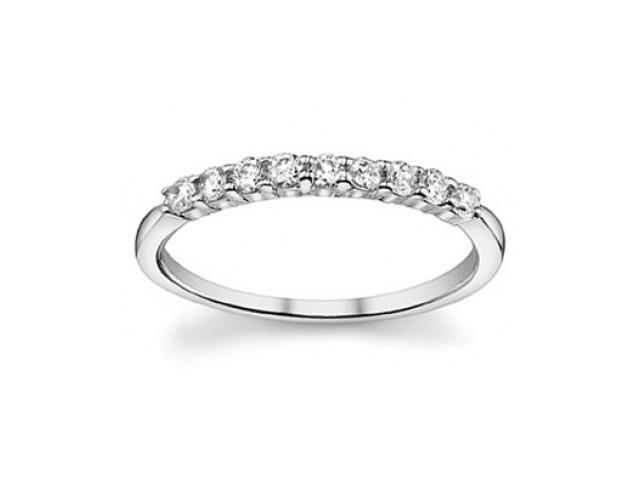 0.40 ct Ladies Round Cut Diamond Wedding Band Ringin 18 kt White Gold
