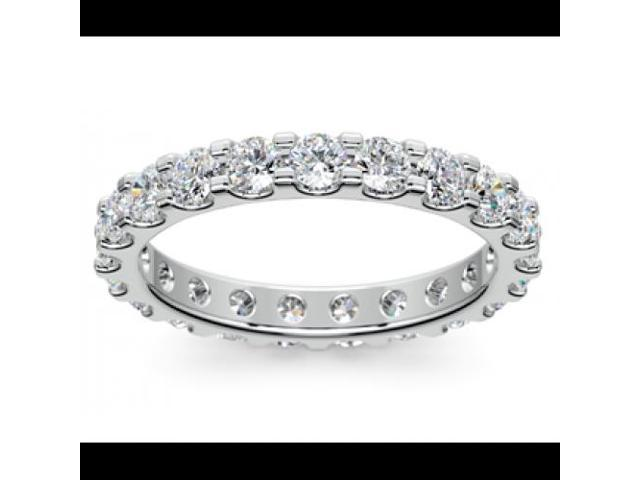 2.00 ct Ladies Round Cut Diamond Comfort Fit Wedding Band in 18 kt White Gold