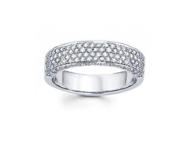 2.00 CT Ladies Three Row Diamond Anniversary Ring in Platinum