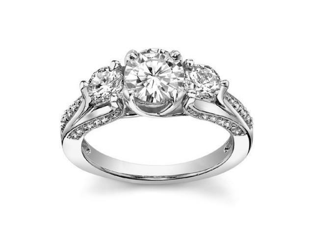 2.25 ct Ladies One Of A Kind Diamond Engagement Ring  in 14 kt White Gold
