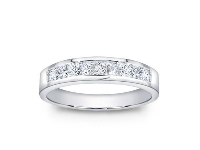 1.00 ct Men's Princess Cut Diamond Wedding Band Ring in Platinum