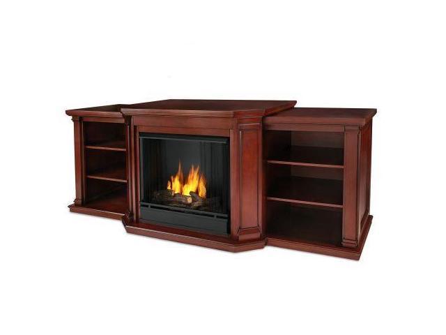 Valmont Entertainment Center Ventless Gel Fireplace In Dark Mahogany