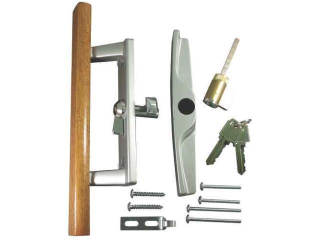 patio door lock and handle aluminum with key lock