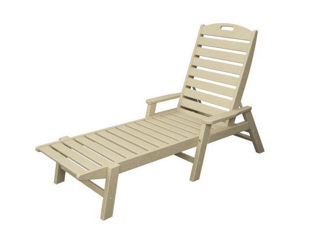 POLYWOOD Nautical Chaise with Arms - Stackable in Sand