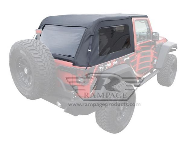 Rampage 109935 Frameless Soft Top Kit Sailcloth Fits 07-15 Wrangler (JK)