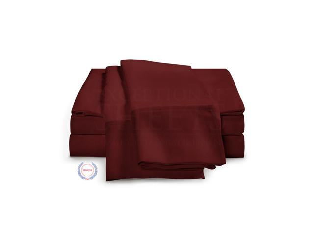 1200 Thread Count - Egyptian Cotton Sheet Set by ExceptionalSheets, King, Burgundy