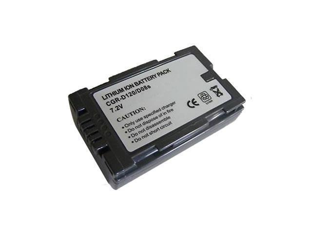 Battpit: Camcorder Battery Replacement for Panasonic PV-GS12 (850 mAh) CGR-D08S 7.2 Volt Li-ion Camcorder Battery