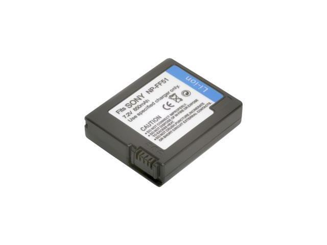 Battpit: Camcorder Battery Replacement for Sony DCR-PC107 (1000 mAh) NP-FF50/51 7.4 Volt Li-ion Camcorder Battery