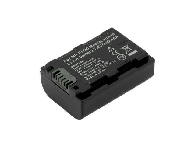 Battpit: Camcorder Battery Replacement for Sony HDR-CX100 (900mAh) NP-FH50 7.4 Volt Li-ion Camcorder Battery