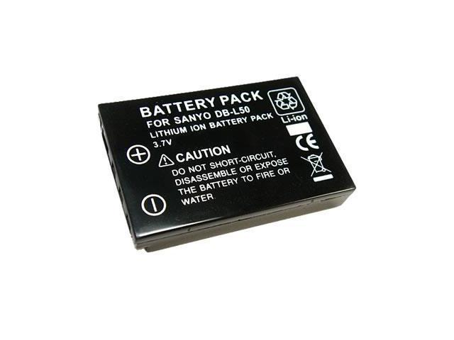 Battpit: Camcorder Battery Replacement for Sanyo DB-L50 (1900 mAh) DB-L50 3.7 Volt Li-ion Camcorder Battery
