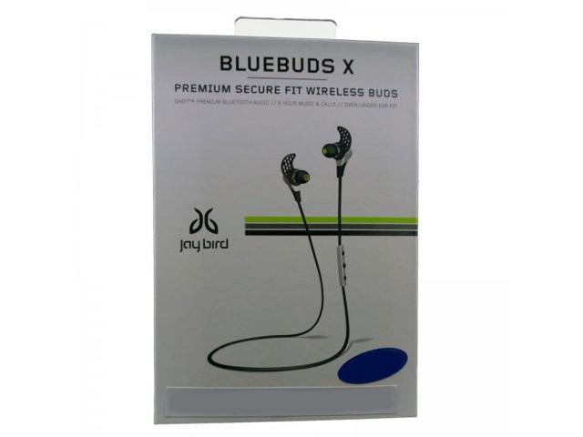 Jaybird BlueBuds X Sport Bluetooth Stereo Earbud Headphones BBX1SW - white