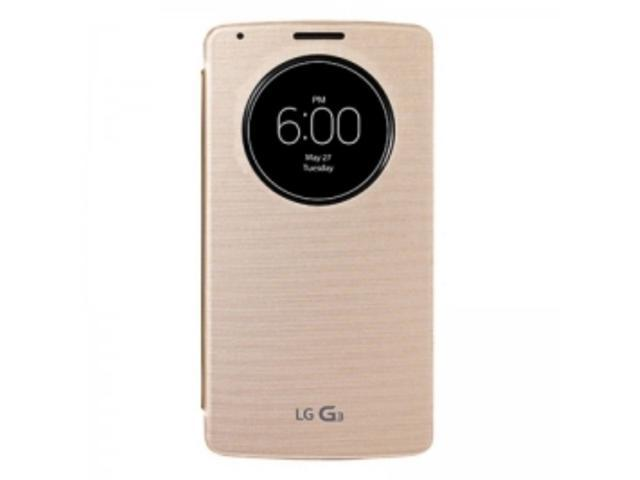 LG CCF-340G Quick Circle Book Cover Flip Case for International G3 - Gold