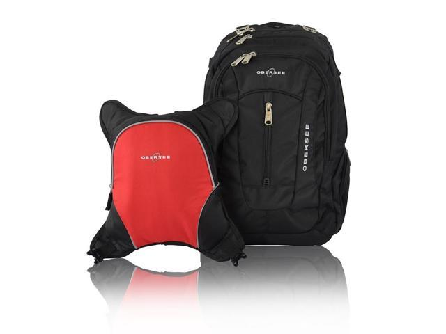 obersee bern diaper bag backpack and cooler black red. Black Bedroom Furniture Sets. Home Design Ideas