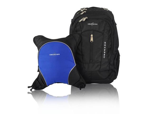 obersee bern diaper bag backpack and cooler black royal blue. Black Bedroom Furniture Sets. Home Design Ideas