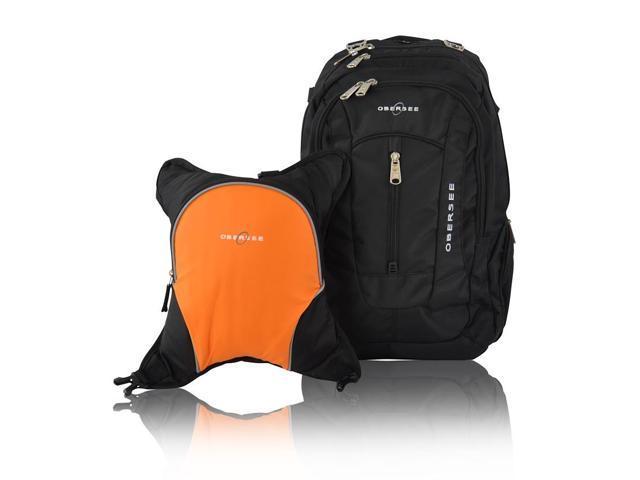 obersee bern diaper bag backpack and cooler black orange. Black Bedroom Furniture Sets. Home Design Ideas