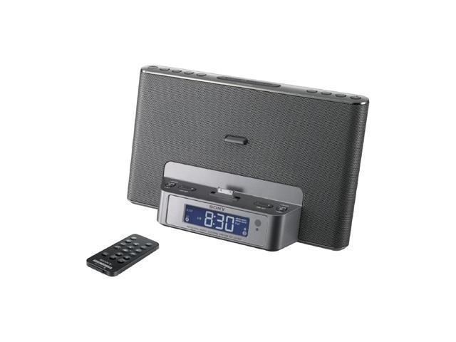 sony icfcs15ipsiln iphone r ipod r speaker dock clock. Black Bedroom Furniture Sets. Home Design Ideas