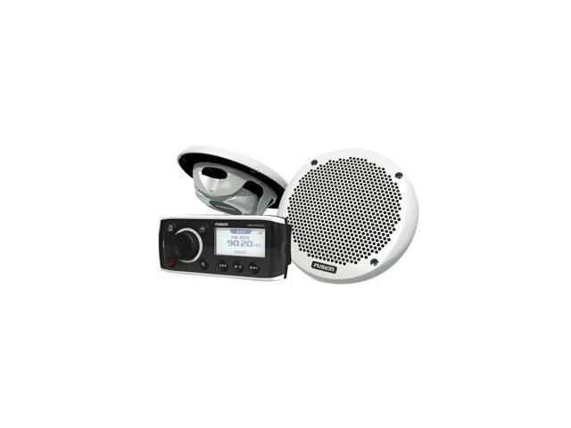 FUSION MS-RA50KTS Bundle w/MS-RA50 Receiver & MS-EL602 Speakers - (Pair) White