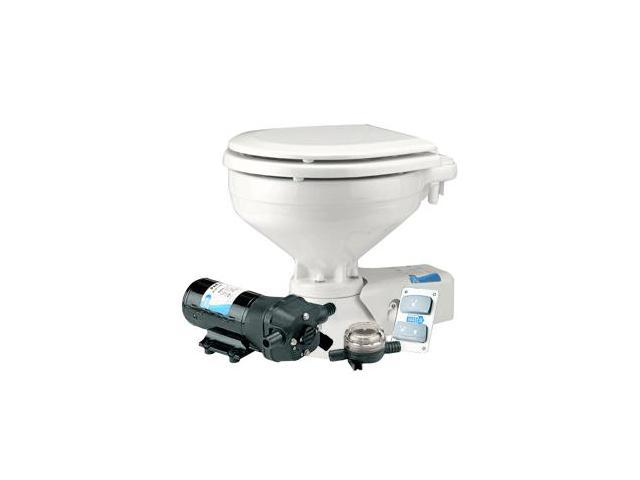 Jabsco Standard Height Quiet Flush Electric Toilet - Seawater