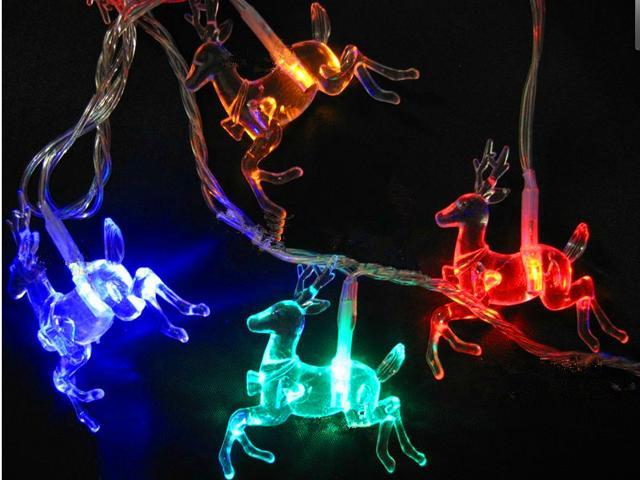 Christmas decoration reindeer LED lights/Water-proof Holiday decoration lights/String of ...