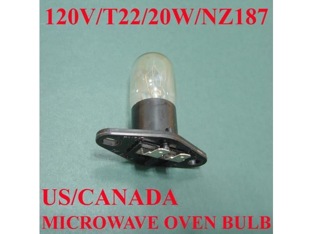 Microwave Oven Light Bulb: Microwave Oven Light Bulb Lamp Globe, NZ187, 125V, 20W - OEM,Lighting