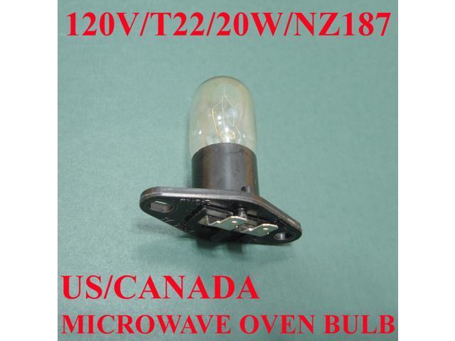 microwave oven light bulb lamp globe nz187 125v 20w standard. Black Bedroom Furniture Sets. Home Design Ideas