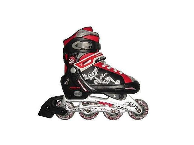 Mongoose Boys Skates - Black, White and Red - Small Size 1-4