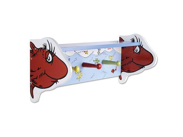 Trend Lab Dr. Seuss One Fish Two Tish Shelf with Peg Hooks