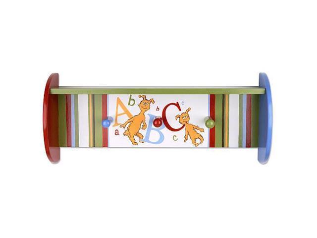 Trend Lab Dr. Seuss ABC Shelf with Peg Hooks