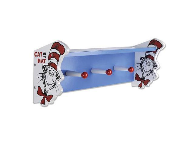 Trend Lab Dr. Seuss Cat in the Hat Shelf with Peg Hooks